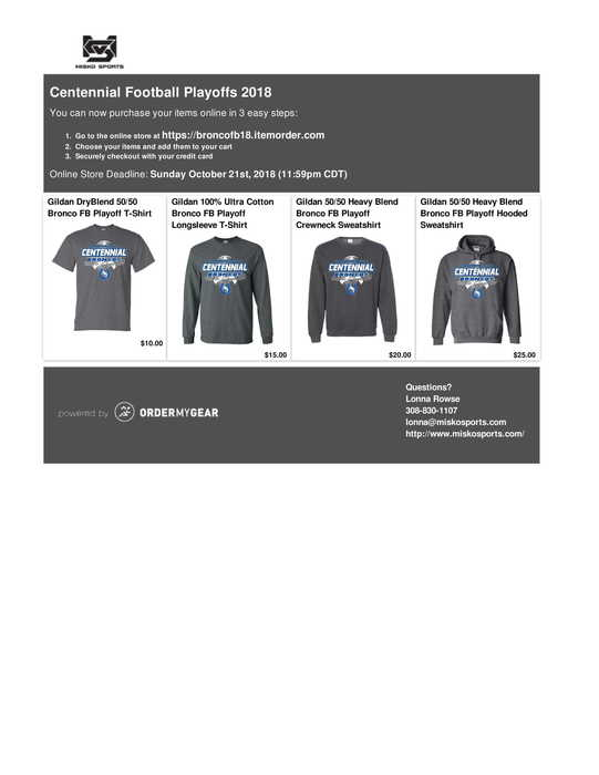 State Playoff Shirts