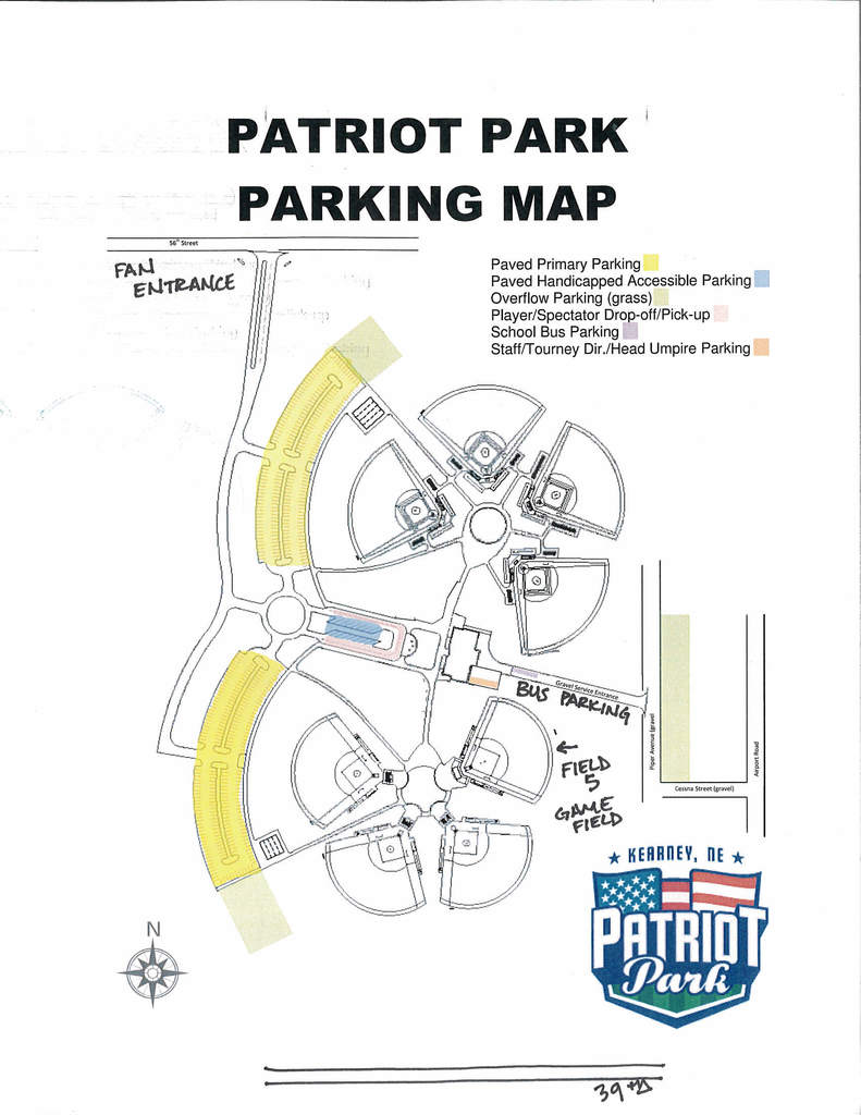 Patriot Field Parking Map
